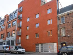 Triplex-appartement met zeer veel lichtinval vlakbij de Schelde en het Eilandje gelegen. Via de ruime inkomhal met vestiaire en apart toilet betreden