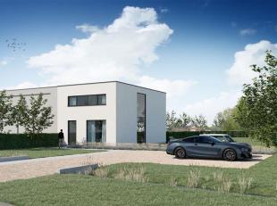 Deze nieuw te bouwen gezinsvilla (halfopen) ligt middenin de groene velden van het schilderachtige Leie-landschap. Het perceel van 1.115 m² is ge