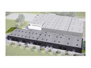 Het betreft een nieuw te bouwen bedrijfsverzamelgebouw bestaande uit 14 casco KMO-units. Gelegen op een zichtlocatie langsheen de E40 op 6,5km van het