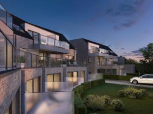 Nieuw te bouwen project voor 17 appartementen, oppervlaktes tussen 77 en 143m²+ terras of tuin, bestaande uit living, keuken, badkamer, 1 of 2 sl