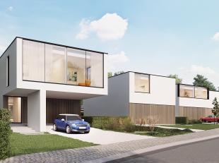 In Onkerzele, deelgemeente van Geraardsbergen, verrijzen er binnenkort 4 MODERNE OPEN BEBOUWINGEN gekenmerkt door minimalistische architectuur, maxima