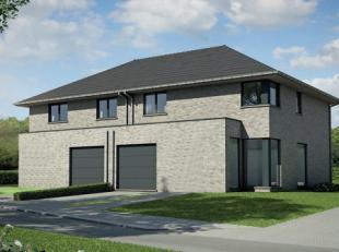 Hedendaagse halfopen bebouwing op 324 m² in een gezellige woonwijk. De tuin is ZO-georiënteerd. GLV: inkom, toilet, living, keuken, garage.