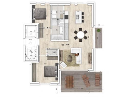 Appartement à vendre à Adegem, € 292.000