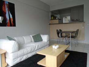 Het appartement is gelegen op de tweede verdieping en omvat een inkom - living met open ingerichte keuken - badkamer met douche en aansluiting voor wa