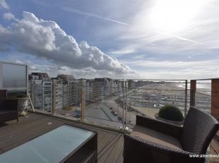 Zonnig terras met schitterend zeezicht in recent gebouw nabij het Rubensplein. Prachtige ruime duplex bestaande uit inkom, zonnige woonkamer met zeezi