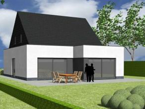 Nieuw te bouwen alleenstaande woning met vrije keuze van architectuur te Olsene (Zulte). Prijs voorbeeldwoning, maar geen verplichting. Your Home luis