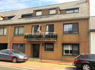 Gelijkvloers appartement met 3 slaapkamers.<br /> Omvat: inkomhal, keuken, ruime woonkamer, badkamer, 3 slaapkamers, apart toilet, inpandige garage, k