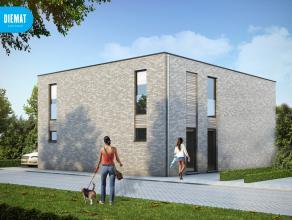 Nieuw te bouwen moderne & hedendaagse half open bebouwing op 308 m² met 2 bouwlagen gelegen langs de Koolskampstraat te Lichtervelde. E-peil: