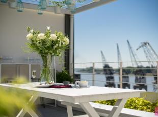 Welkom in de meest exclusieve penthouse op de Scheldekaaien! Deze triplex penthouse villa biedt u alles wat u van een luxe woning verwacht: een hoogst