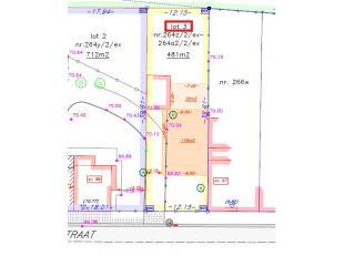 Landelijk gelegen perceel bouwgrond voor een halfopen bebouwing te Velm (Sint-Truiden) met een mooie oppervlakte van 481 m² (LOT 3). <br /> <br /