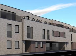 Prachtig nieuwbouw appartement welk gelegen is op het gelijkvloers. Het appartement omvat een gemeenschappelijke inkomhal met toegang naar de private