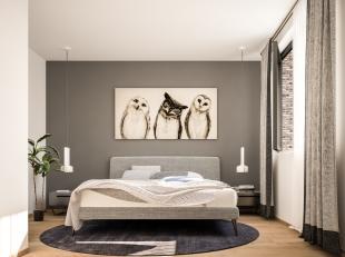Deze stijlvolle doorzonwoning maakt deel uit van de nieuwe, groene woonzone Op de Heufkens te Koninksem, Tongeren.Het gelijkvloers heeft een open keuk