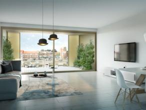Project Quartier Bleu - app C20.210 - Riverside:<br /> - Aqualoft gelegen op de 2e verdieping<br /> - Frontaal waterzicht en zicht op de jachthaven<br