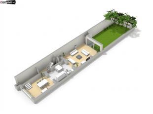 Immeuble de rapport 4 unités de 292 m² - Surface bâtie de 96 m² - Duplex Rez-inférieur de 80 m² avec jardin de Sud