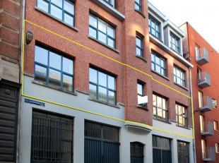 """In het pakhuis """"Victor Bernat"""" dat met veel respect in ere en glorie werd hersteld, bevindt zich op de eerste verdieping deze luxueuze loft van maar l"""