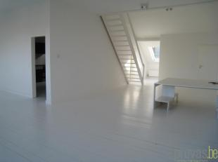Prachtige duplexloft van ca 143 m² op de tweede verdieping, ideaal gelegen op de Vlaamsekaai in het hartje van het Zuid. Deze locatie is meer dan