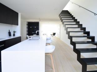 Op een bijzondere locatie aan de Coupere, ligt dit stijlvolle luxeuze appartement op de hoogtste étage. Een mooi concept, op maat gemaakt voor