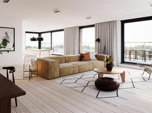 Dit lichte 3 slaapkamer penthouse op de 4e verdieping heeft een bewoonbare oppervlakte van 203 m² en 3 terrassen waarvan een ruim terras van 37 m