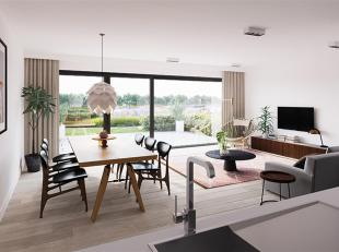 Dit lichte 2 slaapkamerappartement op het gelijkvloers heeft een bewoonbare oppervlakte van 101 m² en een terras van 12 m². U betreedt het a
