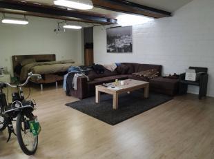 Een grote entiteit met appartement, handelspand, werkplaats en loft. Het appartement heeft 4 slpk, 1 badkamer, binnenkoer, grote living met keuken. Ha