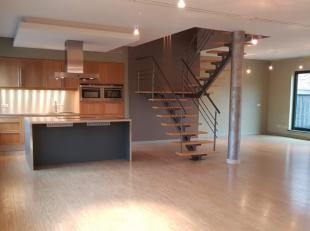 Exclusief loft-appartement met 180 m² bewoonbare oppervlakte,3 slaapkamers (1 op het woonverdiep en 2 onder dak), nachthal van 28m² (plaats