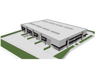 INDELING:Glvl.: Open ruimte - afzonderlijke inkomdeur met voorzieningen voor toilet en kitchenette - glaspartij naast de inkomdeur (voor kantoorruimte