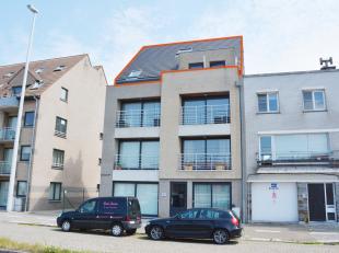 Mooi en recent duplex-appartement, centraal gelegen in Zeebrugge.  Indeling : Aparte inkom, gastentoilet, compacte woonkamer, open ingerichte keuken,