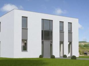 Nieuw te bouwen moderne design villa-project = geselecteerde bouwgrond (nabij centrum)<br /> Dit voorbeeld kan nog volledig aangepast worden volgens d