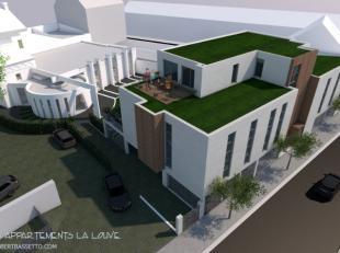 """Appartement 2 chambres Ref : 1516Venez découvrir le nouvel immeuble qui sera situé à l'arrière de l'ancien restaurant """"L'A"""