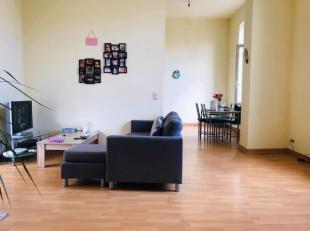 APPARTEMENT plein centre : 1er étage sans ascenseur et comprenant : Hall, grand living lumineux, cuisine équipée, salle-de-bains,
