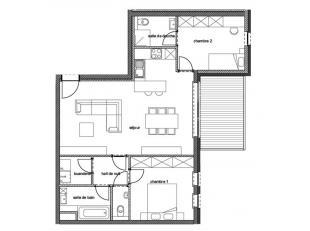 """!!! OFFRE PROMOTIONNELLE !!!  """"Résidence Goffinet""""Nous vous proposons cet appartement 2 Chambres au 1° étage avec terrasse dans une"""