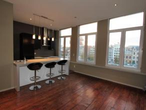 Licht 1-slaapkamer appartement met prachtig uitzicht op Verbindingsdok en het MAS. Ruime woon- en eetkamer (ca. 48m²) gelegen op prachtige authen