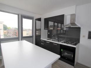 Instapklaar volledig gerenoveerd 2-slaapkamer appartement nabij Bisschoppenhofpark op de 4e verdieping. Inkomhal. Grote woon- en leefruimte (ca. 40m&s