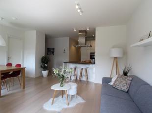Prachtig nieuwbouw appartement met 2 slaapkamers en zonne-terras in Zurgenborg-wijk. Ingerichte, open luxe keuken voorzien van een hardstenen werkblad