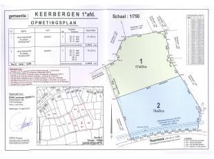 Perceel grond te Keerbergen, Bakestraat<br /> GEMEENTE KEERBERGEN, eerste afdeling<br /> LOT 1: Een perceel grasland gelegen Broekbemden, gekadastreer