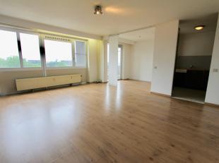 Centraal gelegen studio met ruime leefruimte (slaapplaats inbegrepen), ingerichte keuken (elektrisch kookvuur, dampkap, ijskast, vaatwasser en enkele