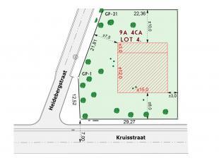 Uiterst ruim perceel bouwgrond bestemd voor het bouwen van een open bebouwing met een perceeloppervlakte van 9a04ca. zeer aangename zuid tuin. Uiterst