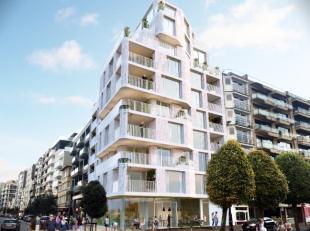 Woon - en leefcomfort aan de hoek van de Zeelaan en de Markt in De Panne. Appartement 8.1 is een duplex dat zich strekt over de achtste en negende ver