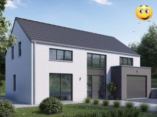 Projet de construction d'une villa 4 façades basse énergie K30 , 1 chambres avec dressing + 2 chambres + 1 sdb ; triple vitrage ,panneau