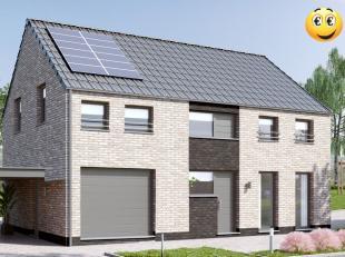 Projet de construction d'une villa 4 façades basse énergie K30 , 4 chambres 1 sdb ; triple vitrage ,panneaux solaires thermiques , possi