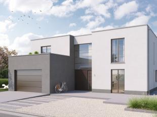 Nieuwbouwproject in de hedendaagse bouwstijl met sleutel-op-de-deur afwerking waarbij aandacht wordt besteed aan het behalen van een zeer laag energie