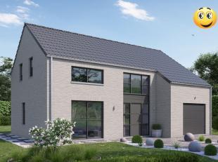Projet de villa 4 façades basse énergie et 100% traditionnelle K 30 ( triple vitrage,14 cm disolation dans les murs, entre 22 et 44 cm d