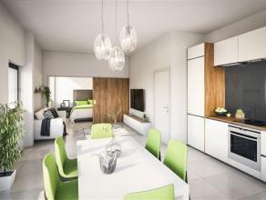 Arlon Centre, Au 1er étage de la Résidence Tour Molitor appartement 1 chambre neuf dune superficie de 48 m² et comp