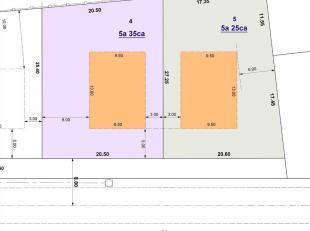 Mooi perceel bouwgrond voor open bebouwing met een oppervlakte  van ± 5a 25ca. Het perceel is gelegen op de rand van het centrum van Haacht, op