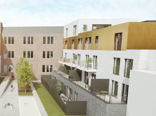 """RESIDENCE GRAANMARKT Cette nouvelle réalisation """"De Graanmarkt"""" est située dans le centre de Ninove, au coin des rues Graanmarkt et De K"""