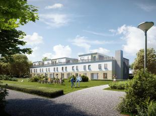 Appartement B1 is perfect georiënteerd, heeft 1 slaapkamer met mooi en zeer ruim zonneterras van 25 m² met zicht op de gemeenschappelijke pa