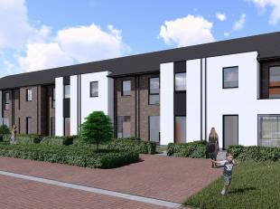 Lot 38 is een gesloten bebouwing, nog op te starten, in eigentijdse, moderne stijl op een grondopp. van 125 m² en met een totale bewoonbare opper