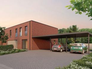 Lot 1 is een halfopen bebouwing in opbouw in moderne stijl op een grondopp. van 293 m² en met een totale bewoonbare oppervlakte van 144 m² +