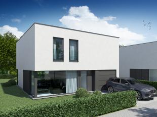 Lot 4 is een open, energiezuinige woning (E = 20) in hedendaagse stijl op een grondopp. van 589 m². <br /> <br /> GELIJKVLOERS: inkom, wc, ruime