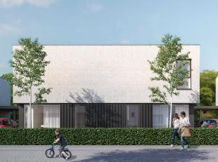 MODERNE energiezuinige gezinswoning  op een perceel van 255 m². Inkomhal met vestiaireruimte en aparte hangtoilet, gezellige leefruimte met een o